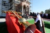 Святейший Патриарх Кирилл посетил строящийся Троицкий храм в Астрахани
