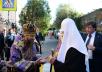 Патриарший визит в Астраханскую митрополию. Всенощное бдение в Казанском храме Астрахани