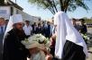 Патриарший визит в Астраханскую митрополию. Посещение Троицкого храма в Астрахани