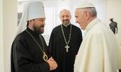 Состоялась встреча митрополита Волоколамского Илариона с Папой Римским Франциском