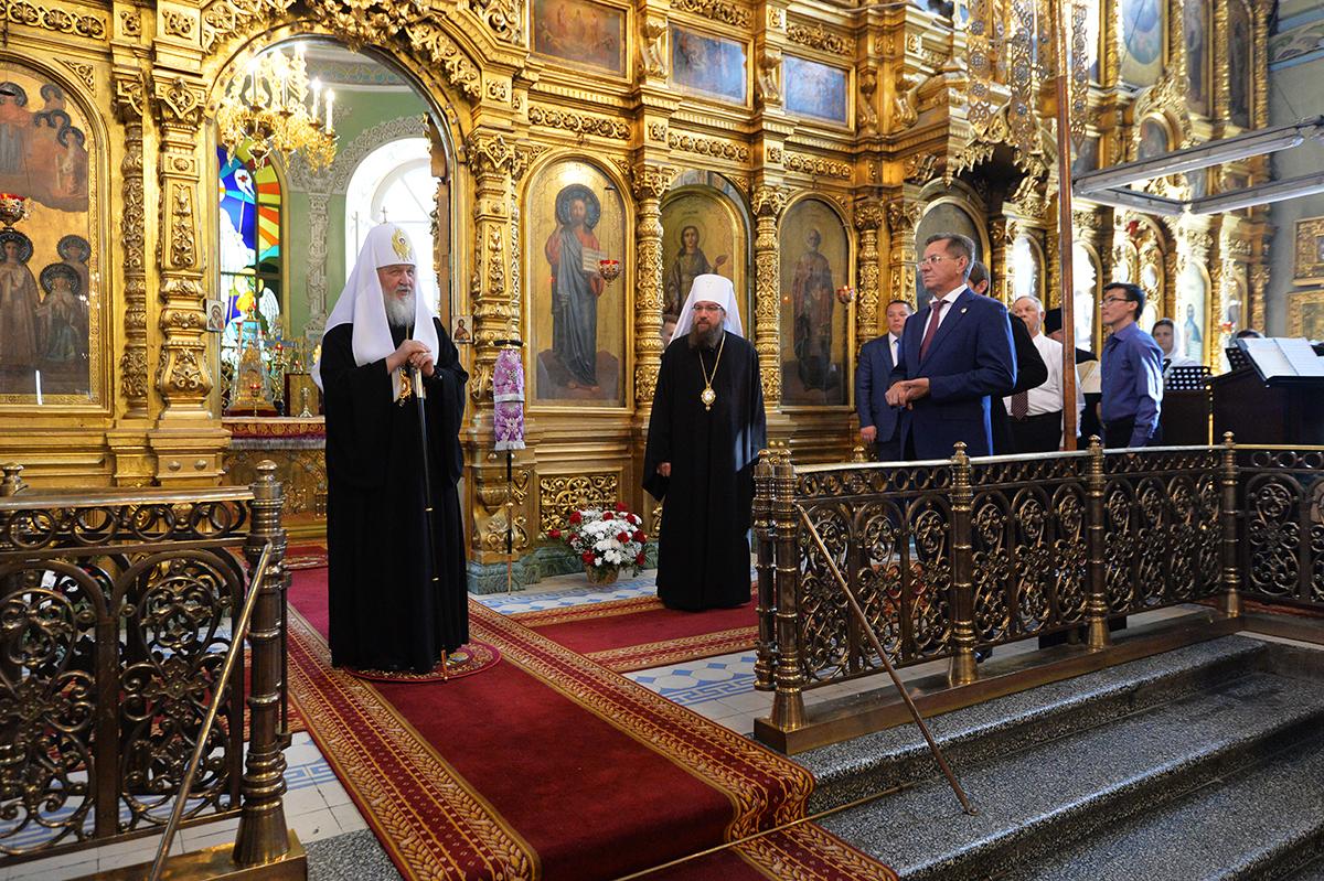 Патриарший визит в Астраханскую митрополию. Посещение Покровского собора в Астрахани