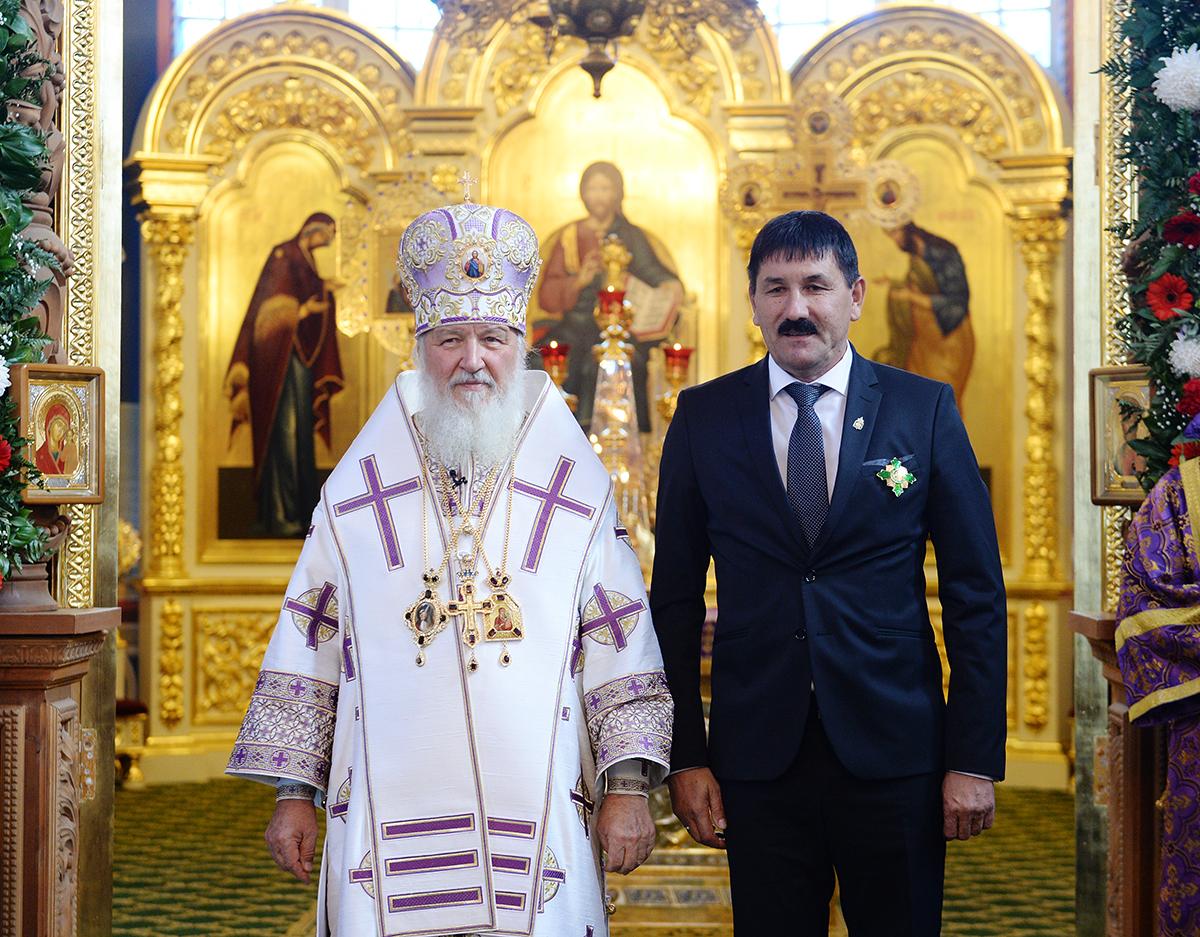 Патриарший визит в Астраханскую митрополию. Литургия в Успенском соборе Астраханского кремля