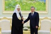 Состоялась встреча Святейшего Патриарха Кирилла с Президентом Республики Узбекистан Ш.М. Мирзиёевым