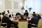 Святейший Патриарх Кирилл встретился с Верховным муфтием Узбекистана и председателем Комитета по делам религий при Кабинете министров Республики Узбекистан
