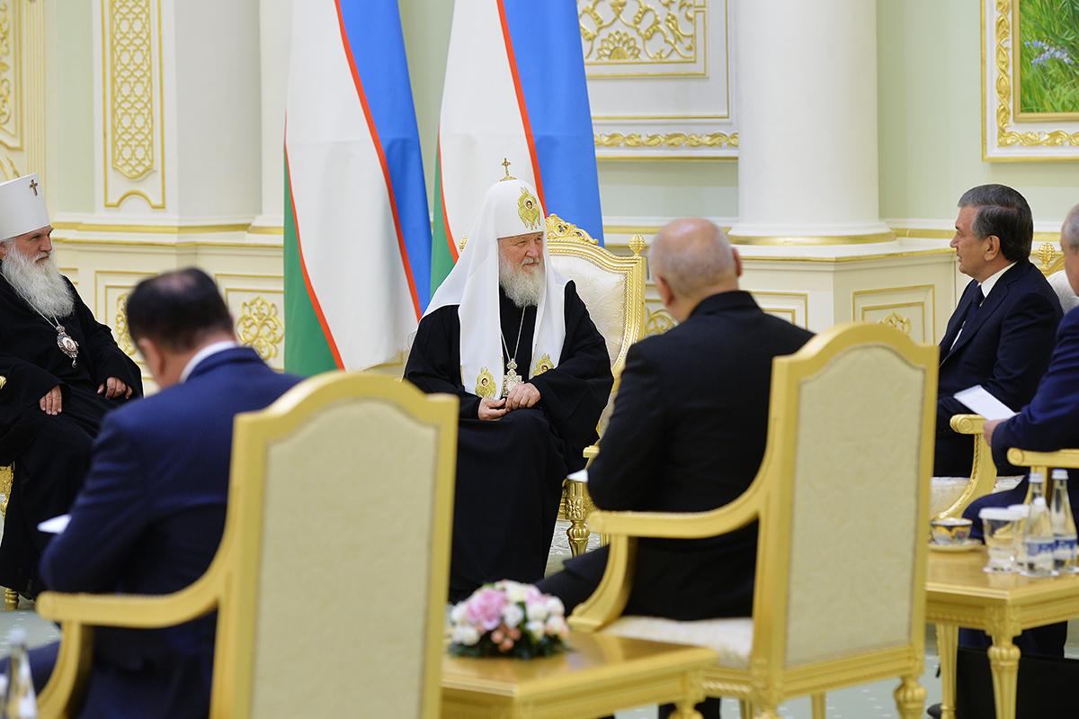 Патриарший визит в Ташкентскую епархию. Встреча с Президентом Республики Узбекистан Ш.М. Мирзиёевым