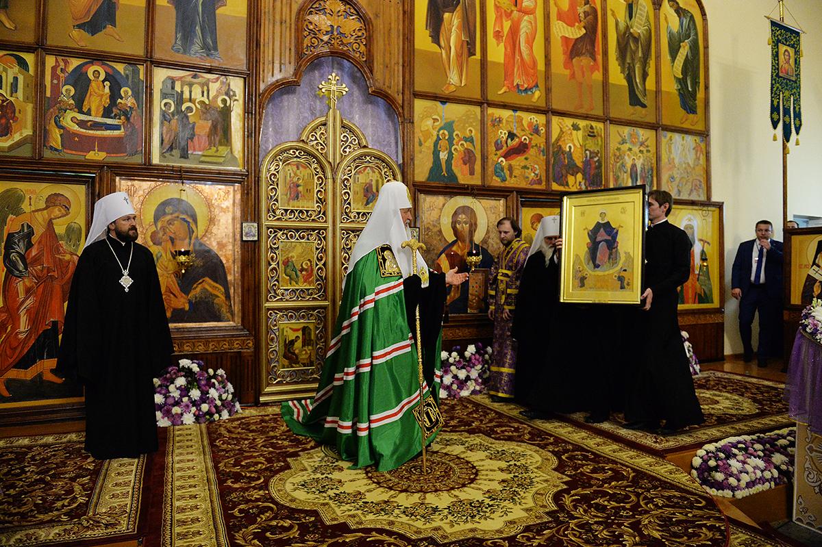 Патриарший визит в Ташкентскую епархию. Всенощное бдение в соборе святителя Алексия Московского в Самарканде