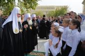 Святейший Патриарх Кирилл посетил храм Архистратига Божия Михаила в Бухаре