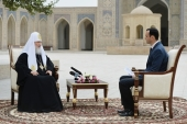 Интервью Святейшего Патриарха Кирилла по итогам визита в Ташкентскую и Узбекистанскую епархию