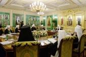 Святейший Патриарх Кирилл возглавил очередное заседание Священного Синода