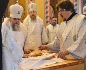 В Рыбинской епархии освящен храм в честь священномученика Вениамина, епископа Романовского