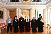 Святейший Патриарх Кирилл вручил церковные награды ряду архиереев, отмечающих в этом году юбилейные даты