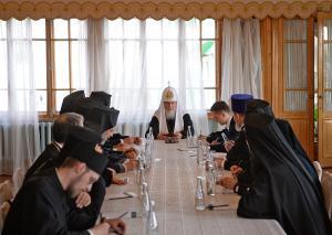Состоялась встреча Святейшего Патриарха Кирилла с членами Комитета представителей Православных Церквей при Европейском Союзе