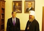 Представительство Православной Церкви Казахстана в Москве посетил министр по делам религий и гражданского общества Казахстана Н.Б. Ермекбаев