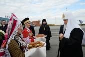 Патриарший визит в Удмуртскую митрополию. Прибытие в Ижевск