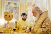 В Неделю 19-ю по Пятидесятнице Святейший Патриарх Кирилл совершил Литургию в Михайловском кафедральном соборе Ижевска