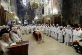 В Троице-Сергиевой лавре состоялось отпевание архимандрита Наума (Байбородина)