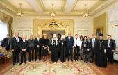 Состоялась встреча Святейшего Патриарха Московского и всея Руси Кирилла с Президентом Хорватии Колиндой Грабар-Китарович