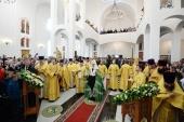 Патриаршее служение в Неделю 20-ю по Пятидесятнице в храме прп. Сергия Радонежского на Ходынском поле