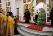 Святейший Патриарх Кирилл совершил освящение храма преподобного Сергия Радонежского на Ходынском поле г. Москвы