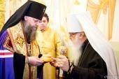 В Минске молитвенно отметили 52-летие архиерейской хиротонии митрополита Филарета (Вахромеева)