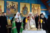 Святейший Патриарх Кирилл передал в дар Румынской Церкви частицу мощей преподобного Серафима Саровского