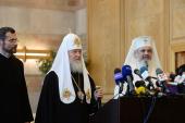 Визит Святейшего Патриарха Кирилла в Румынию. Прибытие в Бухарест