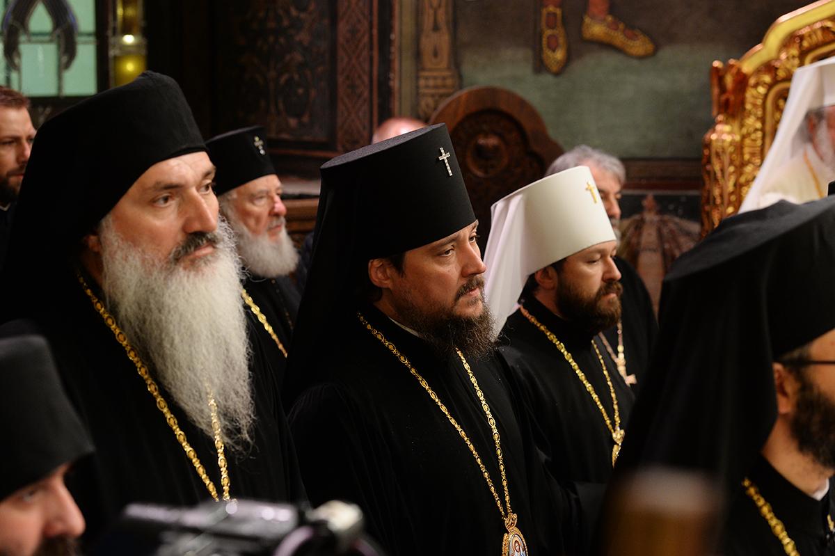 Визит Святейшего Патриарха Кирилла в Румынию. Молебен по случаю 10-летия интронизации Блаженнейшего Патриарха Румынского Даниила