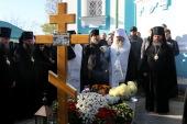 На 40-й день после кончины митрополита Иринея (Семко) на могиле почившего владыки в Красногорском монастыре в Черкасской области совершена соборная панихида