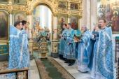 В праздник Казанской иконы Божией Матери Патриарший экзарх всея Беларуси совершил Литургию в Свято-Духовом соборе Минска