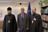 В Страсбурге прошла встреча представителя Украинской Православной Церкви при европейских международных организациях с комиссаром по правам человека Совета Европы