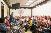 Председатель Синодального отдела по взаимоотношениям Церкви с обществом и СМИ встретился со студентами Южного федерального университета