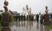 В Вознесенском Печерском монастыре Нижнего Новгорода открылась аллея императоров Дома Романовых