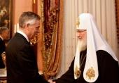 Святейший Патриарх Кирилл встретился с послом США в России Джоном Хантсманом