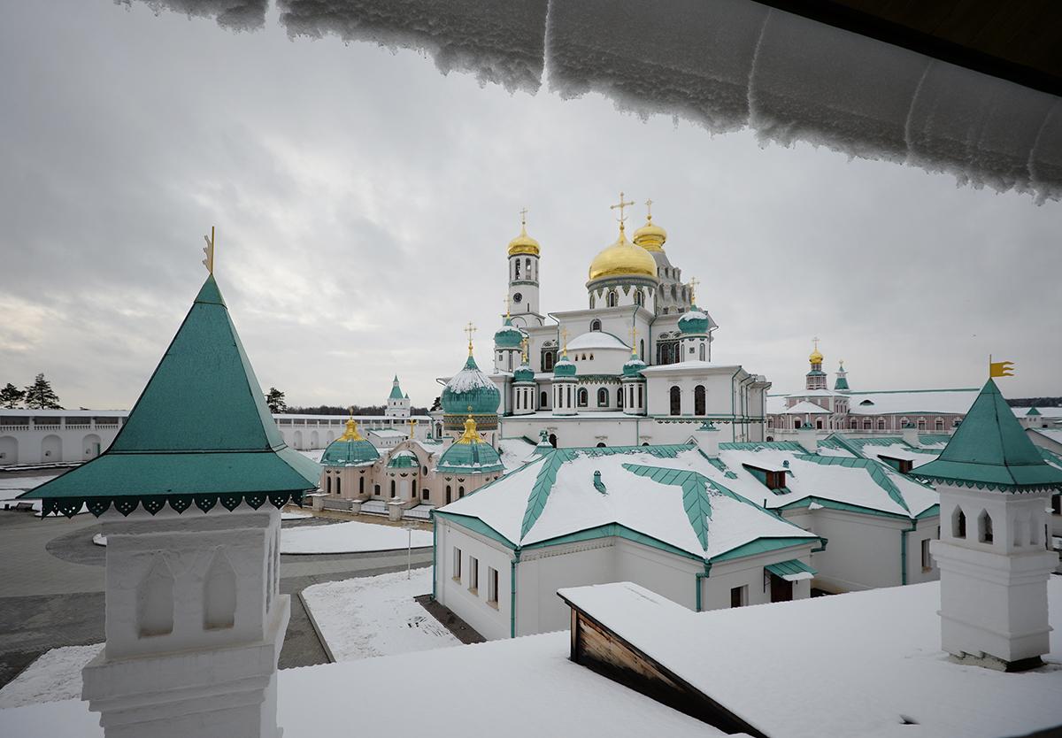 Посещение Президентом России, Святейшим Патриархом Кириллом и председателем Правительства России Ново-Иерусалимского монастыря