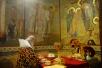 Служение Святейшего Патриарха Кирилла в Донском монастыре в день 100-летия избрания на Патриарший престол святителя Тихона. Хиротония архимандрита Феофана (Данченкова) во епископа Волжского
