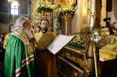 В день 100-летия избрания на Патриарший престол святителя Тихона Святейший Патриарх Кирилл совершил Литургию в Донском ставропигиальном монастыре