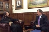 Митрополит Иларион встретился с президентом Болгарской исламской академии К. Исхаковым