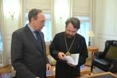 Митрополит Волоколамский Иларион встретился с председателем правления Фонда «Русский мир»