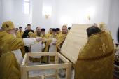 Патриарший экзарх всея Беларуси совершил освящение храма в честь Новомучеников и исповедников Церкви Русской в Дятлове