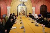 Состоялась встреча Святейшего Патриарха Кирилла с Блаженнейшим Патриархом Иерусалимским Феофилом