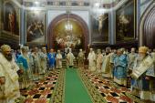 Торжественное богослужение в Храме Христа Спасителя в день 100-летия интронизации святителя Тихона, Патриарха Московского