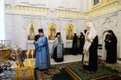 В девятую годовщину со дня кончины Патриарха Алексия II Предстоятель Русской Церкви совершил заупокойное богослужение в Даниловом монастыре