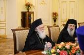 Состоялась встреча Святейшего Патриарха Кирилла с Блаженнейшим Архиепископом Тиранским и всей Албании Анастасием