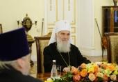 Состоялась встреча Святейшего Патриарха Кирилла со Святейшим Патриархом Сербским Иринеем
