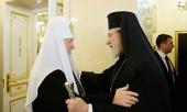 Святейший Патриарх Кирилл встретился с Блаженнейшим Архиепископом Кипрским Хризостомом