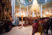 В день памяти сщмч. Климента Римского Предстоятель Украинской Православной Церкви совершил Литургию в Свято-Ольгинском соборе Киева