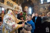 В 27-ю годовщину архиерейской хиротонии Предстоятеля Украинской Православной Церкви состоялось торжественное богослужение в Киево-Печерской лавре