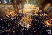 В Неделю 27-ю по Пятидесятнице Блаженнейший митрополит Киевский и всея Украины Онуфрий возглавил Литургию в Киево-Печерской лавре