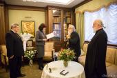 Президент Белоруссии А.Г. Лукашенко поздравил митрополита Филарета с тезоименитством