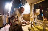 Предстоятель Украинской Православной Церкви совершил Литургию в Никольском соборе Покровского монастыря в Киеве
